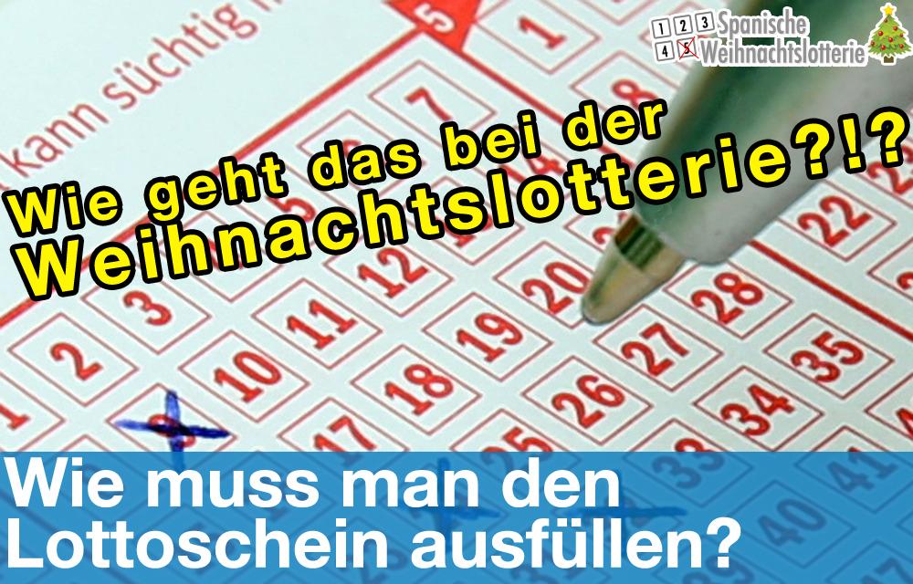 Wie Muss Man Den Lottoschein Ausfüllen?